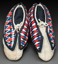 American Indian Art:Beadwork and Quillwork, A PAIR OF MIAMI CLOTH RIBBONWORK AND HIDE MOCCASINS. c. 1960...