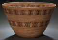 American Indian Art:Baskets, A YOKUTS POLYCHROME COILED BOWL. c. 1920...