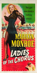 "Movie Posters:Comedy, Ladies of the Chorus (Columbia, R-1952). Three Sheet (41"" X 81"")....."