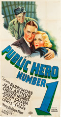 "Movie Posters:Crime, Public Hero #1 (MGM, 1935). Three Sheet (41"" X 80"").. ..."