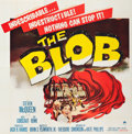 "Movie Posters:Science Fiction, The Blob (Paramount, 1958). Six Sheet (81"" X 81"").. ..."