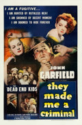 "Movie Posters:Crime, They Made Me a Criminal (Warner Brothers, 1939). One Sheet (27"" X 41"").. ..."