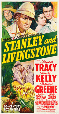 "Stanley and Livingstone (20th Century Fox, 1939). Three Sheet (41"" X 78"") Style B"