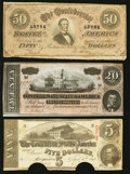Confederate Notes:1863 Issues, T60; T66, and T67 Notes.. ... (Total: 3 notes)