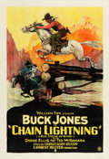 "Movie Posters:Western, Chain Lightning (Fox, 1927). One Sheet (27"" X 41"").. ..."