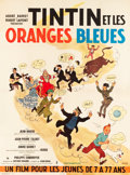 "Movie Posters:Foreign, Tintin and the Blue Oranges (Pathe Consortium Cinema, 1964). FrenchGrande (46.5"" X 63"").. ..."