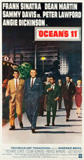 "Movie Posters:Crime, Ocean's 11 (Warner Brothers, 1960). Three Sheet (41.5"" X 78.5"")....."