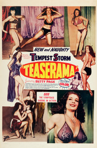 "Teaserama (Beautiful Productions Inc., 1955). One Sheet (27"" X 41"")"