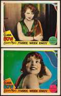 "Movie Posters:Comedy, Three Week Ends (Paramount, 1928). Lobby Cards (2) (11"" X 14"").. ... (Total: 2 Items)"