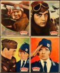 "Movie Posters:Academy Award Winners, Wings (Paramount, 1927). Jumbo Lobby Card Set of 8 (14"" X 17"")..... (Total: 9 Items)"