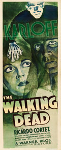 "Movie Posters:Horror, The Walking Dead (Warner Brothers, 1936). Insert (14"" X 36"").. ..."