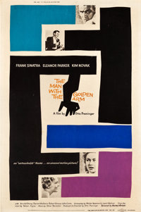 """The Man with the Golden Arm (United Artists, 1955). Poster (40"""" X 60"""")"""