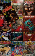 Books:Horror & Supernatural, [Horror Magazines]. Thirteen Issues of Creepy. Warren,1979-1981. Lot contains issues 109-119, 124, and 126. Pub...(Total: 13 Items)