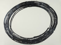 RICHARD SERRA (American, b. 1939) Double Ring II, 1972 Lithograph 35 x 48 inches (88.9 x 121.9 cm