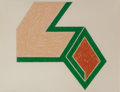 Prints:Contemporary, FRANK STELLA (American, b. 1936). Effingham, 1974.Lithograph and screenprint in colors. 17-1/4 x 22-1/4 inches (43.8x ...