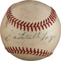 Baseball Collectibles:Balls, 1950's Satchel Paige Single Signed Baseball. ...