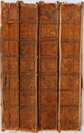 Books:Books about Books, [Typography]. Annales Typographici... Vaillant and Prevost, 1722 and 1725. Parts Two and Three. Four quarto volu... (Total: 4 Items)