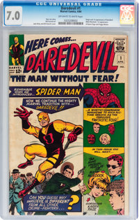 Daredevil #1 (Marvel, 1964) CGC FN/VF 7.0 Off-white to white pages