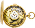 Timepieces:Pocket (pre 1900) , Swiss Musical Quarter Hour Repeating Watch, Later Case & Dial,circa 1840. ...
