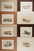 Books:Prints & Leaves, David Roberts. Group of Eight Nineteenth Century tinted Lithographs of the Holy Land. Approx. 8 x 11.5 inches. Matted. Very ...