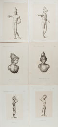 Books:Prints & Leaves, Lot of six prints of Bronze Sculptures and Busts from Germany (Wien, Mosel, Fiume). One plate mounted on printed sheet as is...
