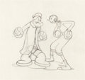 "Animation Art:Production Drawing, Popeye and Olive Oyl ""Dizzy Divers"" Production Drawing (FleischerStudios, 1935)...."