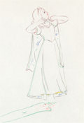 Animation Art:Production Cel, Snow White and the Seven Dwarfs Snow White ProductionDrawing (Walt Disney, 1937)....