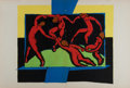 Art:Illustration Art - Mainstream, Matisse. The Dance. Original Double-Page Color Lithograph from Verve. 1939. Approx. 14 x 20.5 inches. Small stab holes from ...