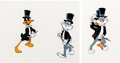 Animation Art:Production Cel, The Bugs Bunny/Road Runner Hour Bugs Bunny and Daffy DuckProduction Cels (Warner Brothers, 1970s).... (Total: 2 Items)