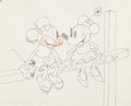 Animation Art:Production Drawing, Touchdown Mickey Mickey and Minnie Mouse Production Drawing(Walt Disney, 1932)....