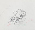 Animation Art:Production Drawing, Brave Little Tailor Mickey Mouse Production Drawing (WaltDisney, 1938)....