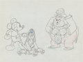 Animation Art:Production Drawing, Society Dog Show Mickey Mouse, Pluto, and Judge ProductionDrawing (Walt Disney, 1939)....