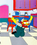 Animation Art:Production Cel, The Simpsons Maggie and Groundskeeper Willie Production Cel(Fox, 1994)....