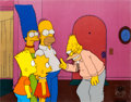 Animation Art:Production Cel, The Simpsons Grampa and Family Production Cel Set-Up (Fox,1994)....