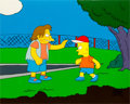 Animation Art:Production Cel, The Simpsons Nelson and Bart Production Cel and MasterBackground (Fox, 1990)....
