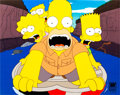 Animation Art:Production Cel, The Simpsons Homer, Lisa, Bart, and Marge Production Cel(Fox, 2001)....