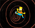 Animation Art:Production Cel, The Simpsons Bart Production Cel and Master Background (Fox,1990)....
