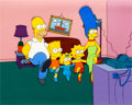Animation Art:Production Cel, The Simpsons Opening Title Production Cel Set-Up and MasterBackground (Fox, 1992)....