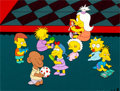 Animation Art:Production Cel, The Simpsons Maggie Production Cel and Master Background(Fox, 1990)....