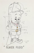 Animation Art:Production Drawing, Robert McKimson Elmer Fudd Color Model Drawing (Warner Brothers,1960s)....
