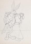 Animation Art:Production Drawing, Robert McKimson Bugs Bunny Drawing (Warner Brothers, 1960s)....