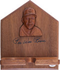 Baseball Collectibles:Others, Pee Wee Reese Signed Wooden Bat Display....