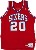 Basketball Collectibles:Uniforms, 1990 Ron Anderson Game Worn Philadelphia 76ers Jersey....