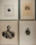 Military & Patriotic:Foreign Wars, [Military Prints]. Group of four excellent portraits of European Military Officers. Largest approximately 18 by 13 inches. N...