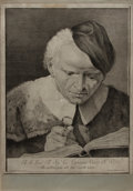 Antiques:Posters & Prints, [COPPERPLATE ENGRAVING]. Superb portrait of Sig. Giovanni Vezzifrom 'Icones ad Vivum Expressae' published in 1743 by Paqual...