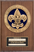 BOY SCOUT AWARD PRESENTED TO COLONEL SANDERS Supporting KFC's Recipe for Hope program and benefiting Feeding Ameri
