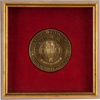 GOVERNOR OF KENTUCKY'S DISTINGUISHED SERVICE MEDALLION PRESENTED TO COLONEL SANDERS Supporting KFC's Recipe for Ho