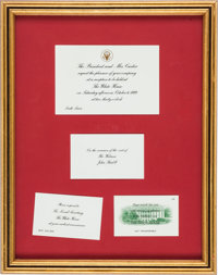 COLONEL SANDERS' WHITE HOUSE INVITATION FROM PRESIDENT JIMMY CARTER Supporting KFC's Recipe for Hope program and b