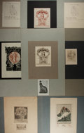 Books:Fine Press & Book Arts, [Ex-Libris]. Group of eight German engraved exlibris plates, somesigned by the artist, some proofs. Very good. Various size...