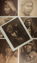 Books:Americana & American History, Edward S. Curtis, Photographer. Group of seven reproductionportrait prints from his monumental series The NorthAmerica...